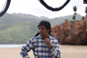 Filmmaker M. Night Shyamalan on the set of Old.
